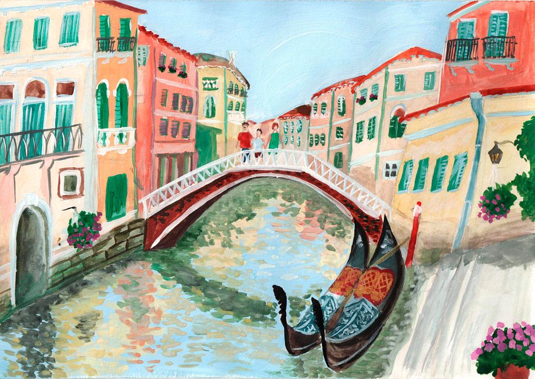 Италия в картинках нарисованная, старые открытки картинки